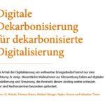 Digitale Dekarbonisierung für dekarbonisierte Digitalisierung